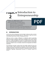 Topic2 Introduction to Entrepreneurship
