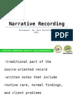 Narrative Recording