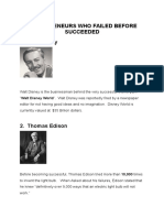 Entrepreneurs Who Failed Before Succeeded