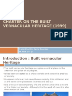 Charter on the Built Vernacular Heritage (1999