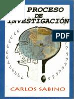 El Proceso de Investigación Carlos Sabino (Parte 01)