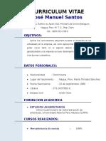 Curriculum Jose Manuel Santos