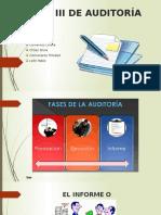 Fase III Del Informe de Auditoría