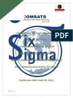 Summary Six Sigma
