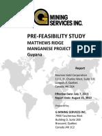 Matthews Ridge Pre Feasibility Study W App Final