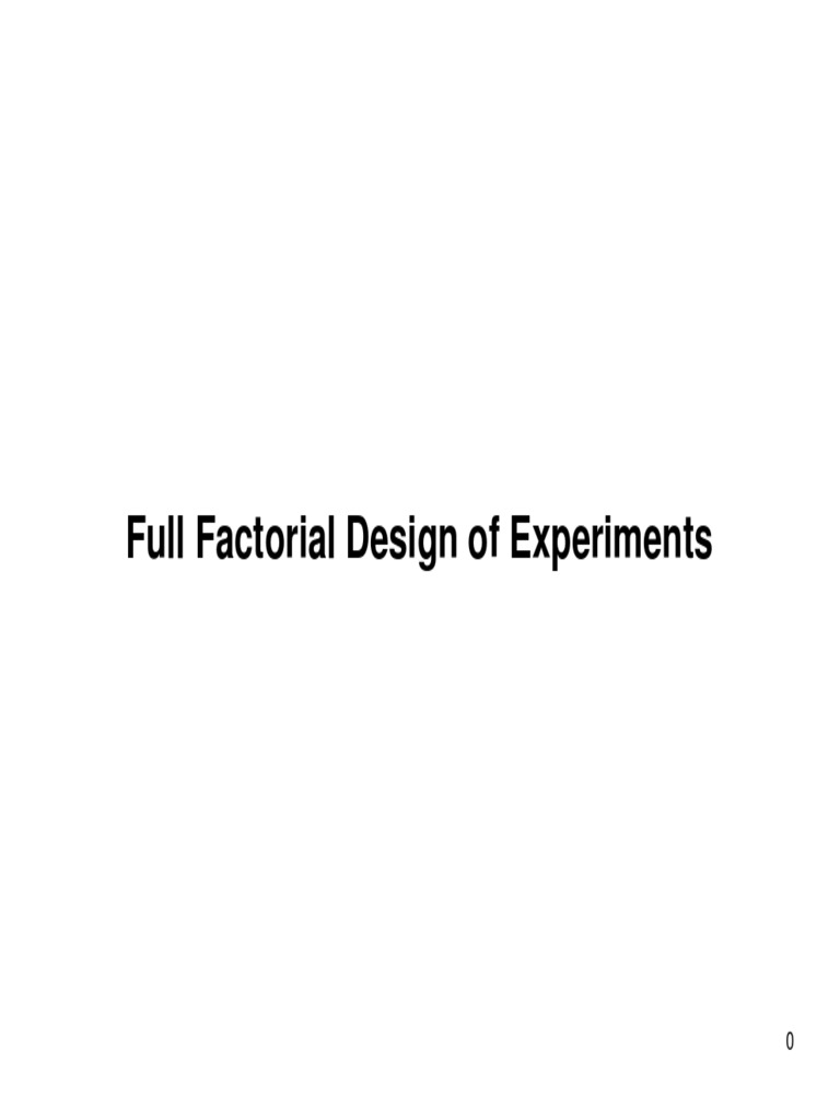 Full Factorial pdf Errors And Residuals
