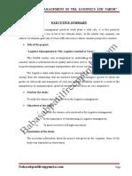 A Project Report on  LOGISTICS MANAGEMENT  IN  VRL  LOGISTICS  LTD  VARUR.doc