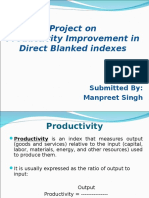 Productivity and Work Measurement