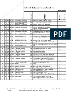 cod falhas cummins pdf | Turbocharger | Throttle