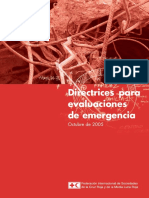Directrices Evaluación de Emergencias