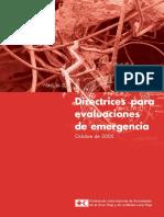 Directrices Evaluación de Emergencias