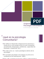 Clase 01 04 Origenes Psicologia Comunitaria
