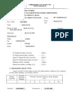 Test Report Bay 101 Trafo-1 Bcpu