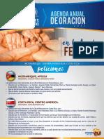 Agenda Anual de Oracion Febrero