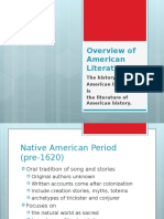 American Literature Literary Period Overview
