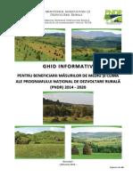 Ghidul Informativ Pentru Beneficiarii Masurilor de Mediu Si Clima