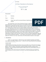 US Dept of Interior - Treaty and Environmental Impact Implications of DAPL