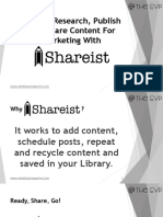 How To Research, Publish And Share Content For Marketing With Shareist