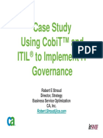 Using COBIT and ITIL to Implement IT Governance