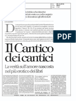 Ronchey, Il Cantico Dei Cantici La Rep 6.12.2016