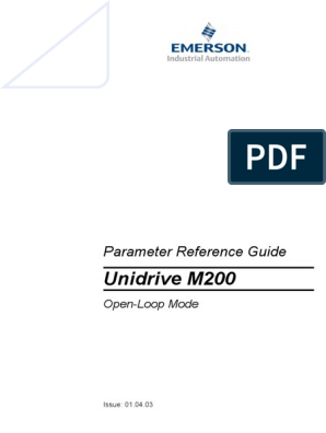 Unidrive M200: Parameter Reference Guide on