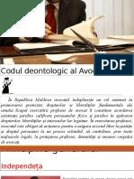 Codul Deontologic Al Avocatului