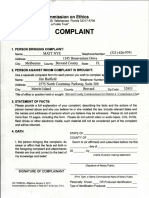 Jim Barfield Ethics Complaint