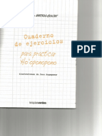 Cuaderno de Ejercicios Para Practicar Ho Oponopono(Hurtado-Graciet)