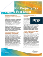 Education property tax Alberta Fact Sheet