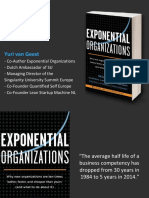 "Slides for ""Exponential Organizations"", by Yuri van Geest"