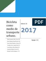 Bicicleta Como Medio de Transporte Urbano Copia