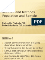 Material, Methods and Sample III