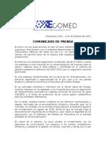 Comunicado de Prensa Ecomed