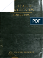 The Classic Point of View by Kenyon Cox
