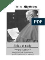 CARTA ENCÍCLICA DE SAN JUAN PABLO II FIDES ET RATIO