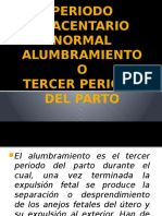 Periodo Placentario Normal Alumbramiento