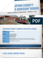 Dauphin Co. Gaming Advisory Board Presentation