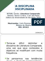 Uma Disciplina Indisciplinada - Nitrini Sandra - Literatura Comparada Historia