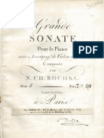 Bochsa - Grand Sonata for Piano and Violin or Flute, Op.5 - Piano Score