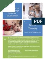 language development flyer