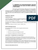 Determinacion y Presencia de Microorganismos Fecales