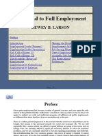 The Road to Full Employment - DB Larson