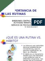 LA IMPORTANCIA DE LAS RUTINAS. TALLER NIÑERAS