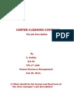 85241938 Carter Cleaning Company Job Description G Anitha 2t1 04 Tps 2nd Shift
