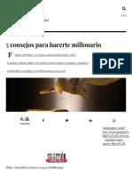 5 Consejos Para Hacerte Millonario - Forbes México