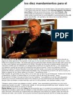 Robert Mckee y Los Diez Mandamientos Para El Guionista