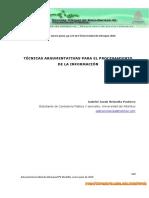 Técnicas Argumentativas Para El Procesamiento de La Información