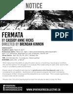 Fermata Audition Notice