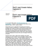 Ryall - Dont Just Create Value, Capture It (HBR)