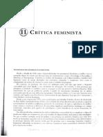 Critica Feminista e literatura
